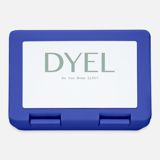 Gift Idea Lunchboxes - Do you even lift? - Lunchbox royal blue