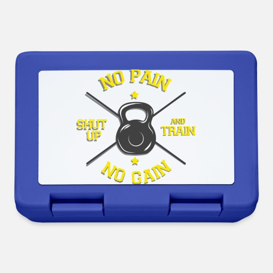 Gift Idea Lunchboxes - Exercising fitness funny saying Pain Success - Lunchbox royal blue