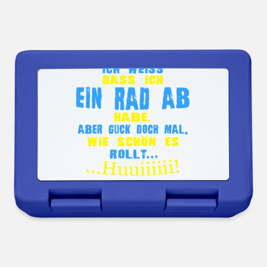 Rad Brotdosen - Rad ab - Brotdose Royalblau