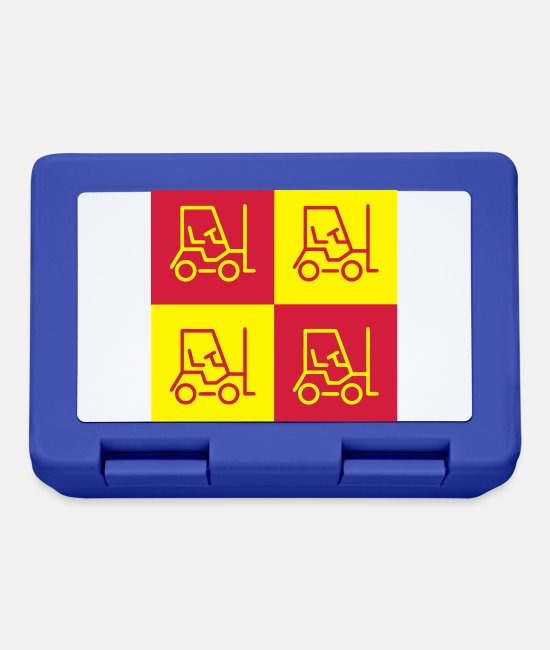 Factory Lunchboxes - Cariste Driver Fahrer Magasinier Usine Factory - Lunchbox royal blue