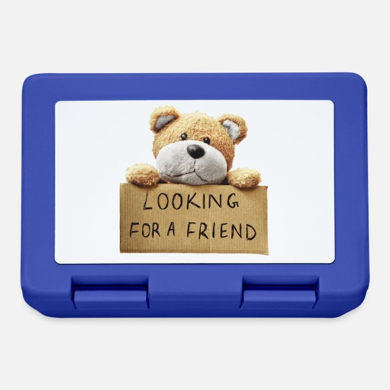 Grizzly Lunchboxes - Looking for a friend - Lunchbox royal blue