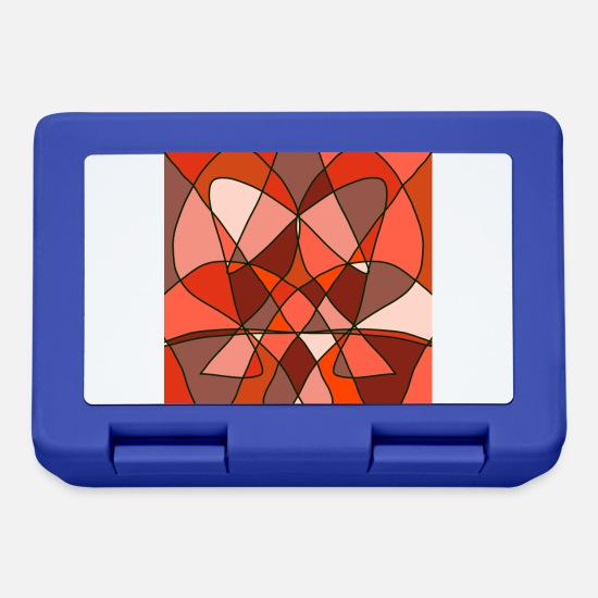 Top Lunchboxes - Abstract art - Lunchbox royal blue