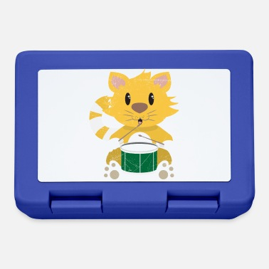Band Cat drummer cat music lover kids gift - Lunchbox
