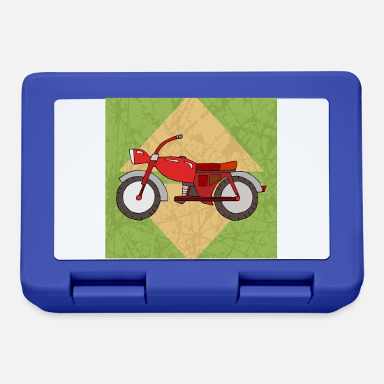 Motor Lunchboxes - Motorcycle - Lunchbox royal blue
