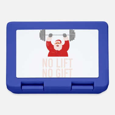 Building Funny Gym No Lift no gift Santa Claus Gift Idea - Lunchbox