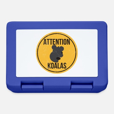Cross Koala Koala Attention Koala Funny gift idea - Lunchbox