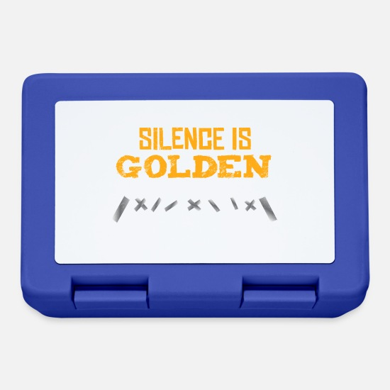 Gift Idea Lunchboxes - Silence is Golden Duct Tape is Silver gift idea - Lunchbox royal blue