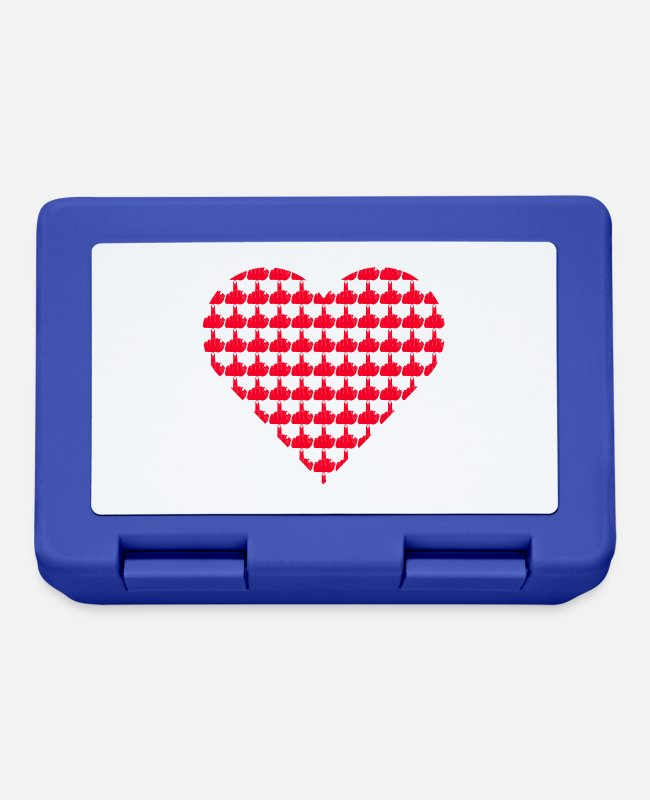 Heart Rate Lunchboxes - Heart from stink fingers - Lunchbox royal blue