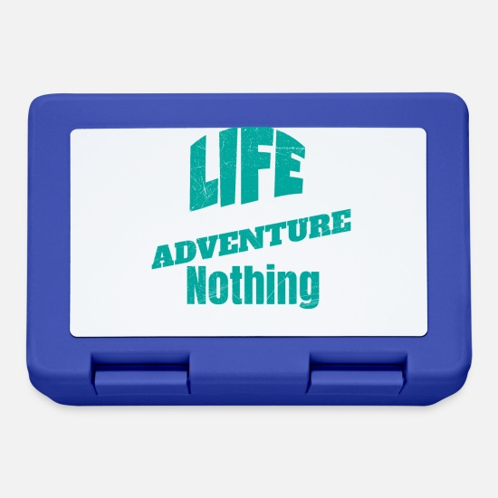 Birthday Lunchboxes - Life is either a daring adventure or nothing - Lunchbox royal blue