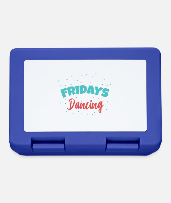 Birthday Lunchboxes - Fridays For Dancing Dancers Funny gift idea - Lunchbox royal blue