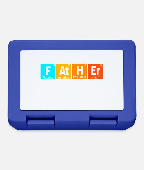 Periodic Table Lunchboxes - The noble element father - Lunchbox royal blue