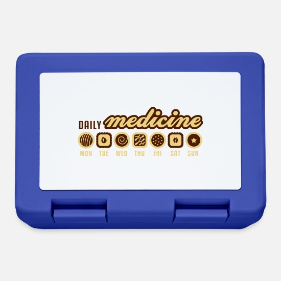 Candy Lunchboxes - Daily medicine of chocolate - Lunchbox royal blue