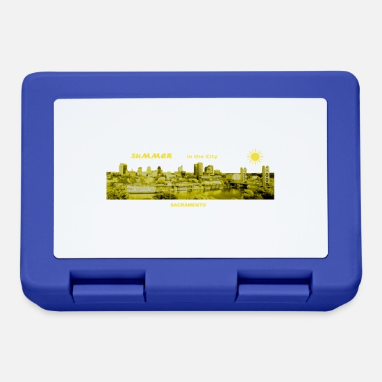 Travel Lunchboxes - Summer City Sacramento California - Lunchbox royal blue