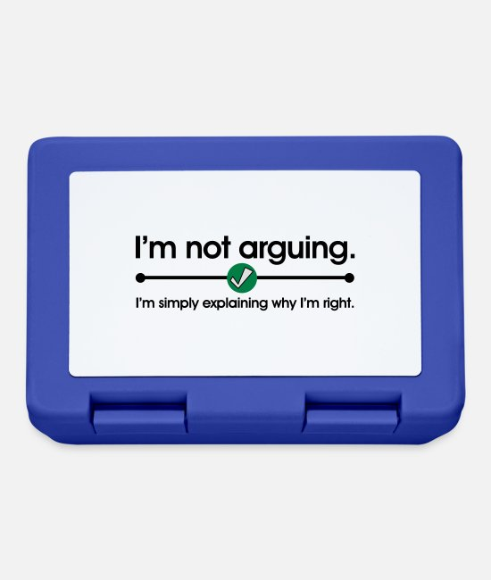 Geek Lunchboxes - Not Arguing - Lunchbox royal blue