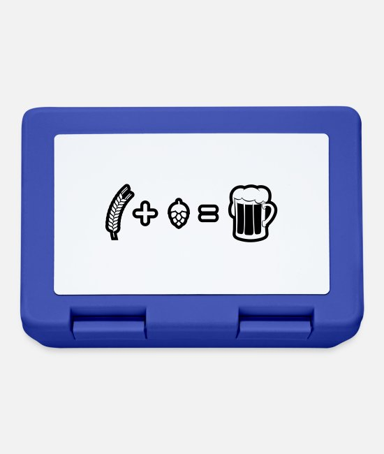 Malt Drink Lunchboxes - Wheat plus hops equal to beer - Lunchbox royal blue
