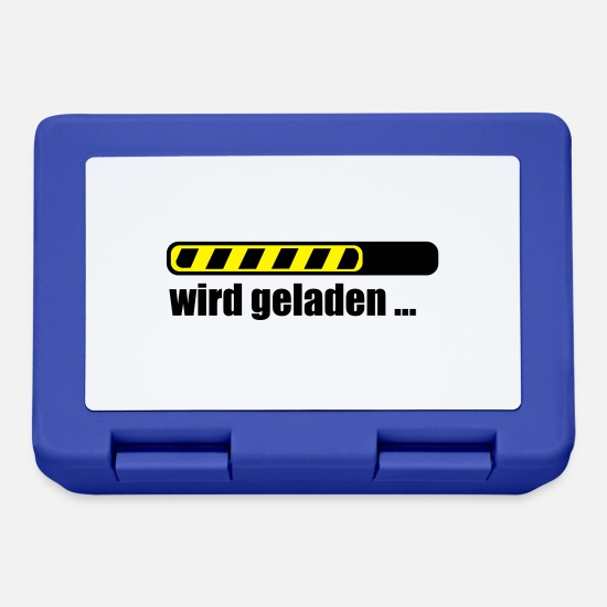 Heirat Brotdosen - Ladebalken PC loading Computer Download - Brotdose Royalblau