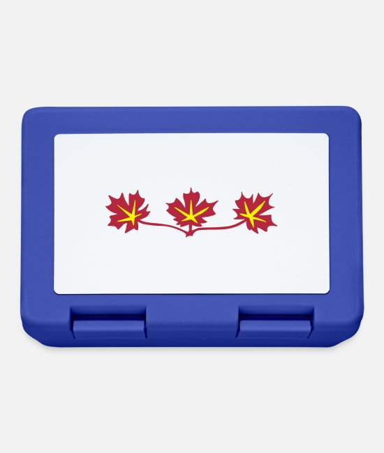 Vancouver Lunchboxes - Red Maple Leaves Canadian Standard Symbol - Lunchbox royal blue
