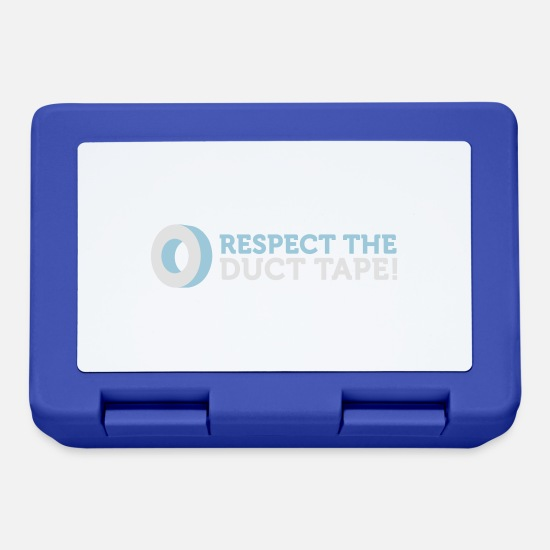 Project Lunchboxes - Respect The Duct Tape! - Lunchbox royal blue