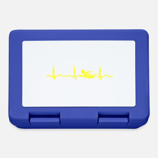 Bass Lunchboxes - ECG HEATING SWIMMER Yellow - Lunchbox royal blue