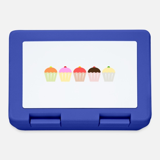 Sgranocchiare Lunch boxes - Cupcake focaccina bakery12 Torta di cottura - Lunch box blu royal