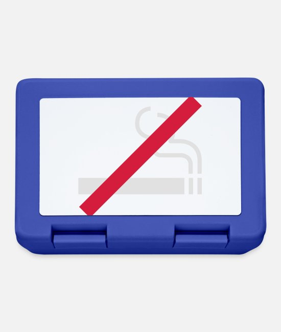 cool Lunchboxes - Nichtraucher | No Smoking - Lunchbox royal blue