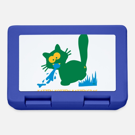 Drugs Lunchboxes - Katzen kotzen Katzengras German Funshirt - Lunchbox royal blue