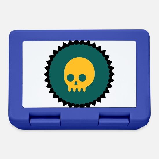 Prank Lunchboxes - Skull emblem - Lunchbox royal blue