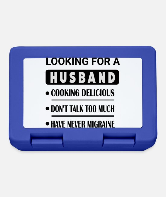 Calm Lunchboxes - Looking For Husband - Lunchbox royal blue