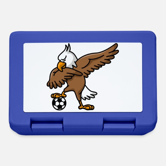 Football Brotdosen - Dabbing dab American Eagle soccer football - Brotdose Royalblau
