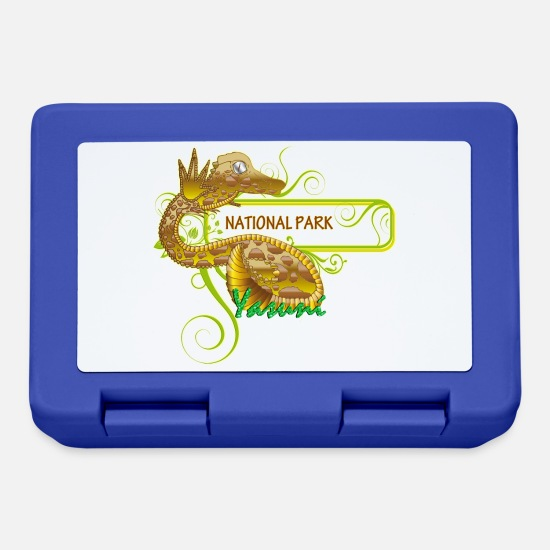 Ecuador Lunchboxes - yasuni national park - Lunchbox royal blue