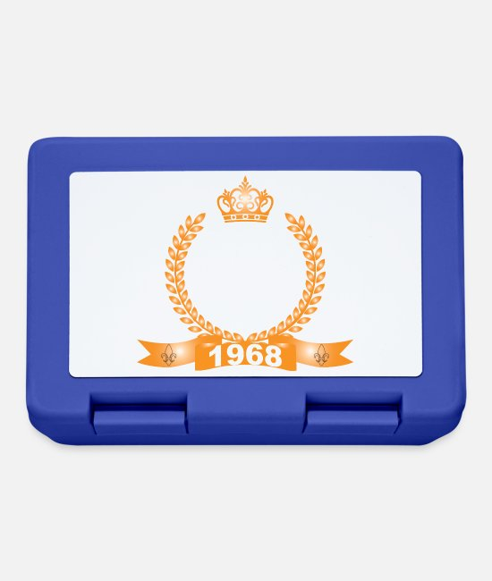 Usa Lunchboxes - No Man is Perfect Except Those Born in 1968 - Lunchbox royal blue