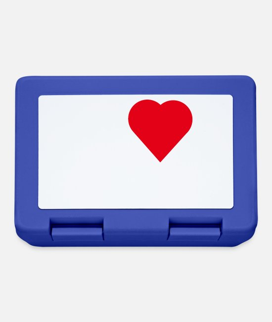 Love Lunchboxes - I LOVE TESTOSTERON WHITE - Lunchbox royal blue