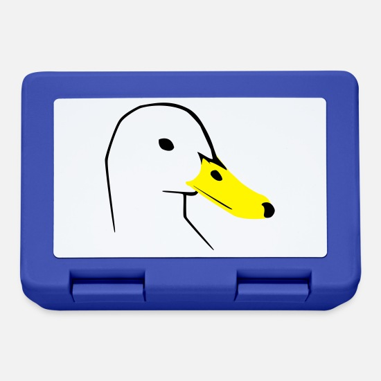 Bird Lunchboxes - Duck - Lunchbox royal blue