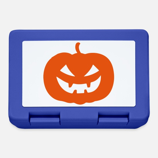 Horror Lunchboxes - pumpkin - Lunchbox royal blue