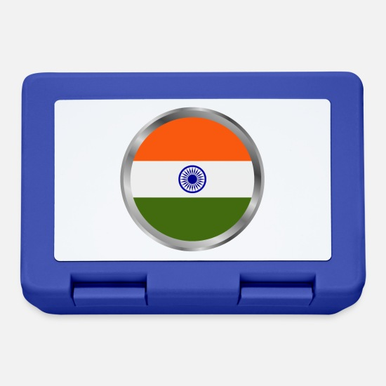 National Brotdosen - Indien-Flagge - Brotdose Royalblau