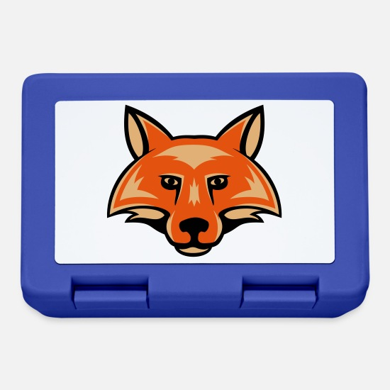 Game Lunchboxes - fox_head_simple_3c - Lunchbox royal blue