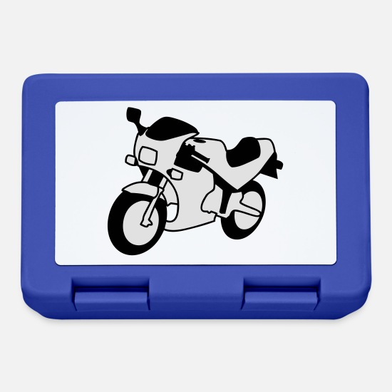 Motorcycle Lunchboxes - motorcycle - Lunchbox royal blue