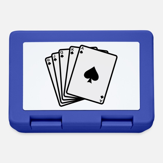 Heart Lunchboxes - Royal - Poker - Lunchbox royal blue