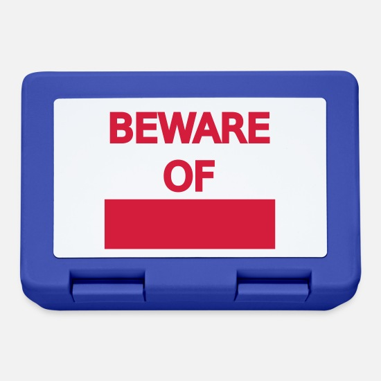 Pattern Lunchboxes - Warning Sign Attention Sign Beware of the template - Lunchbox royal blue