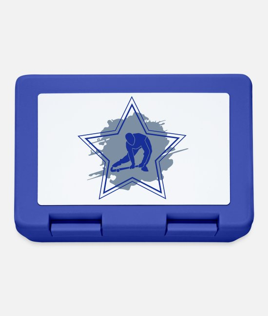 Floor Hockey Lunchboxes - Hockey Star - Lunchbox royal blue