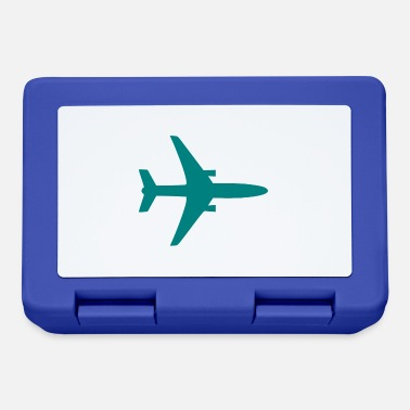 Airplane Silhouette Airplane silhouette teal - Lunchbox
