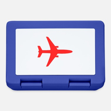 Airplane Silhouette Airplane silhouette red - Lunchbox