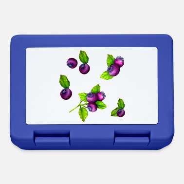 Watercolour Blue Berry Botanical Fruit Pattern - Lunchbox