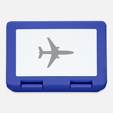 Airplane Silhouette Airplane silhouette icon gray pilot - Lunchbox
