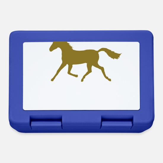 Show Jumping Lunchboxes - Trotting Horse - Lunchbox royal blue