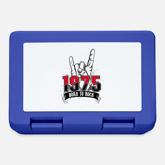Birthday Lunchboxes - Born To Rock 1975 - Lunchbox royal blue