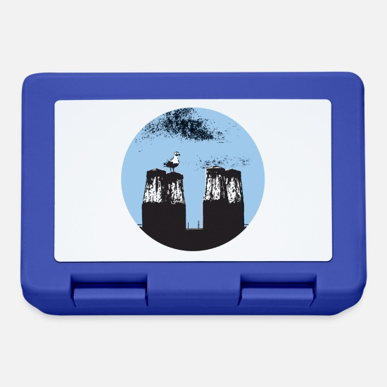 Sailboat Lunchboxes - gull - Lunchbox royal blue