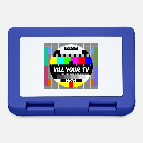 Provocation Lunchboxes - kill your tv - Lunchbox royal blue