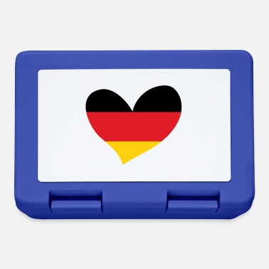 Flag Of Germany Germany, German Flag Heart, I Love Germany - Lunchbox