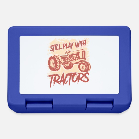 Gift Idea Lunchboxes - Still Play With Tractors - Design - Lunchbox royal blue